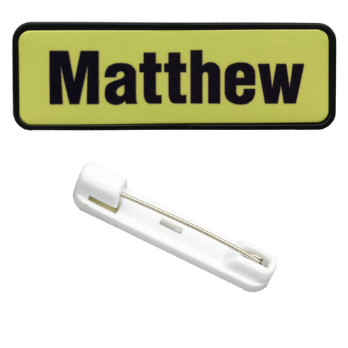 Name Badge 19 x 64 Pin Back - Clever Fridge Magnets