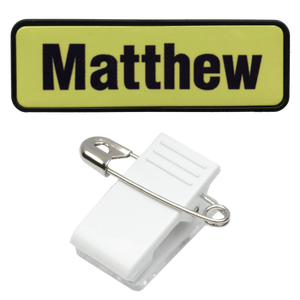Name Badge 19 x 64 Pin/Clip Back - Clever Fridge Magnets