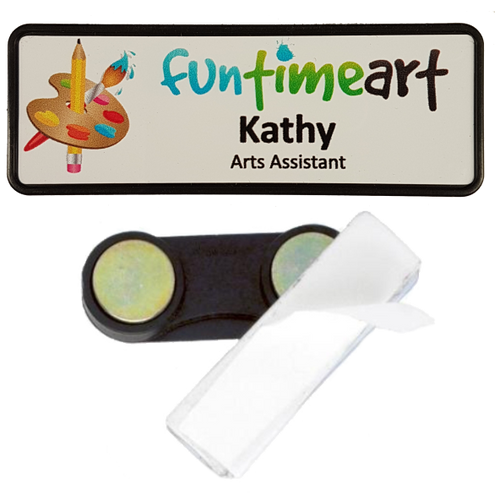 Name Badge 25 x 76 Magnet Back - Clever Fridge Magnets