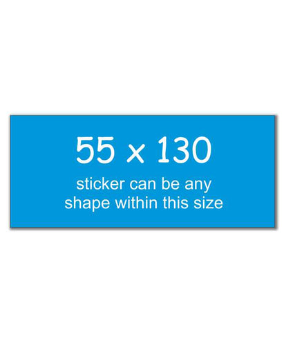 Rectangle Stickers 55 x 130
