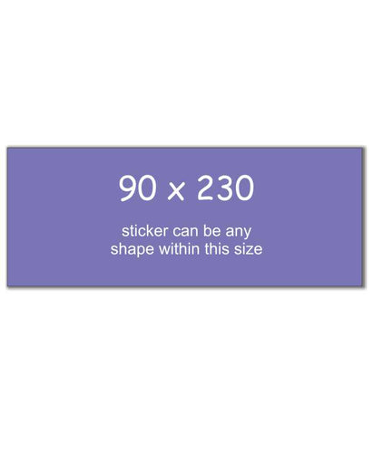 Rectangle Stickers 90 x 230