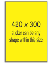 Load image into Gallery viewer, A3 Size Sign Stickers