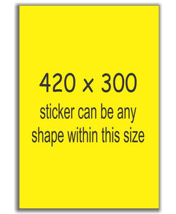 A3 Size Sign Stickers