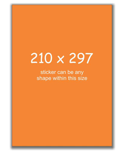 A4 Size Sign Stickers