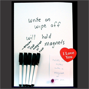 Sticky Whiteboard Sheet & 5 Markers WHITE - Clever Fridge Magnets