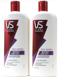 2 VS Vidal Sassoon Pro Series Boost And Lift Volume Conditioner No Weight 25.3oz