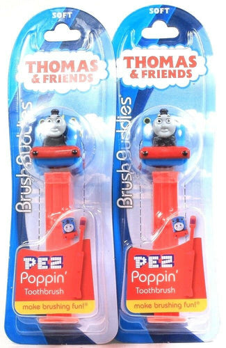 2 Count Thomas & Friends Brush Buddies PEZ Poppin Soft Toothbrushes