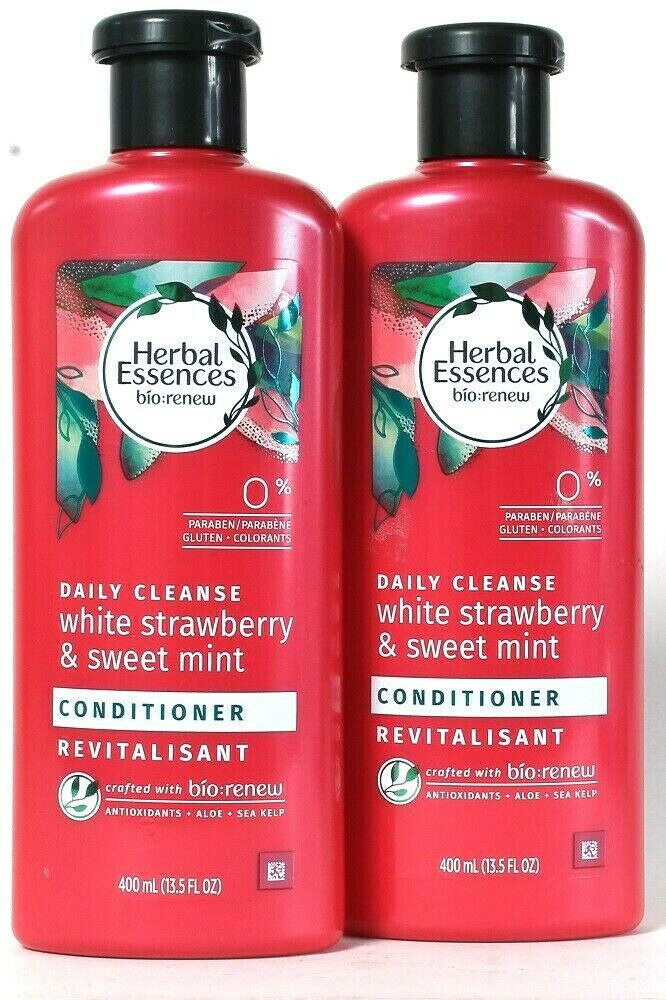 2 Herbal Essences 13.5 Oz Daily Cleanse White Strawberry Sweet Mint Conditioner