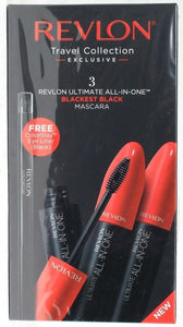 1 Revlon Travel Collection 3 Ct Ultimate All In 1 Blackest Black Mascara & Liner