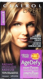 1 Clairol 8A Medium Ash Blonde Expert Collection Nice'n Easy Age Defy Permanent