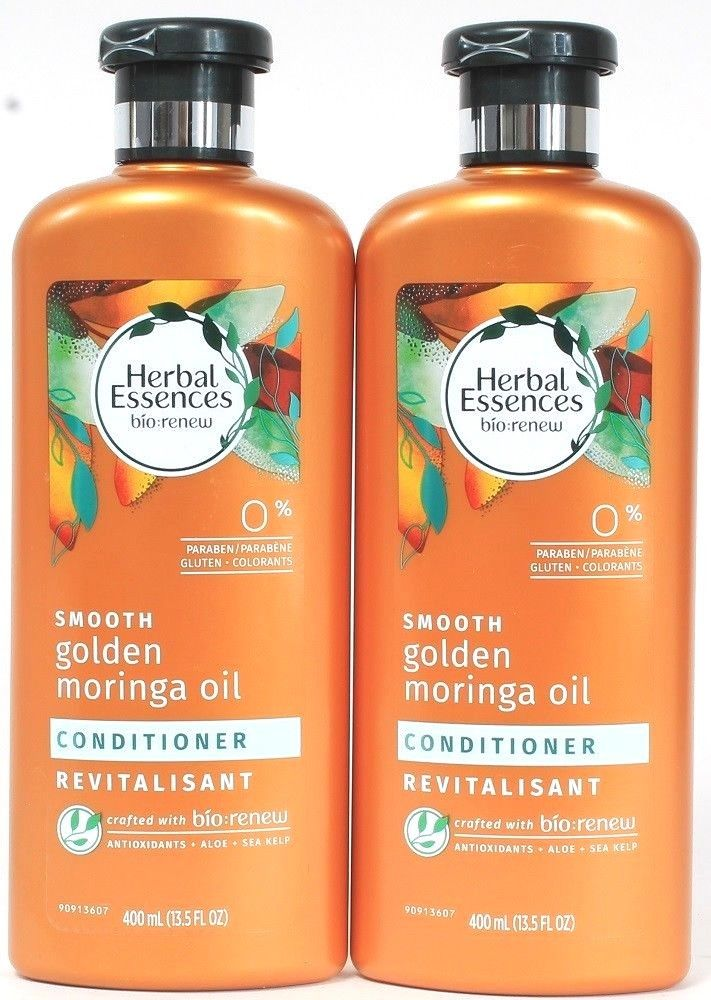 2 Herbal Essences Bio Renew Smooth Golden Moringa Oil Conditioner Aloe 13.5 oz