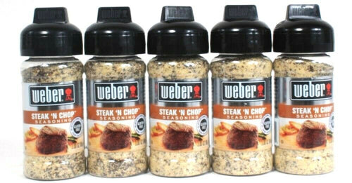 5 Ct Weber 3 Oz Steak N Chop Gluten Free No MSG Bold Flavor Seasoning BB 11/21