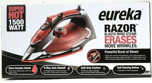 1 Eureka Razor Power Steam Burst Nano Ceramic Shield More Wrinkle Erasing Iron