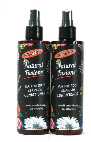 2 Bottles Palmer's 8.5 Oz Natural Fusions Mallow Root Leave In Conditioner