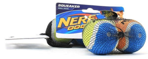 2 Nerf Dog Squeaker Small / Petite Durable Rubber Interactive Toy