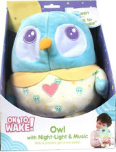 Load image into Gallery viewer, Onaroo Green Glow When Ok To Wake Night Light & Music Soft Cuddly Owl Birth & Up