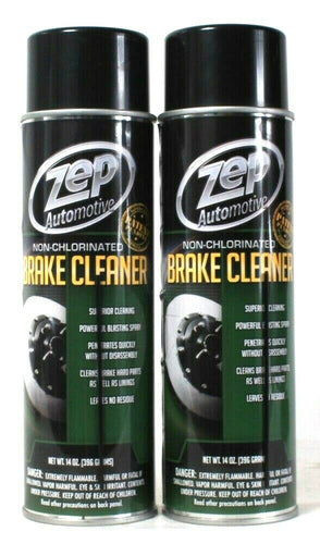 2 Cans Zep Automotive 14 Oz Non Chlorinated Superior Brake Cleaner Blast Spray