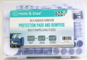 Heim & Elda 122 Piece Multi Shape & Size Self Adhesive Furniture Protect Pads
