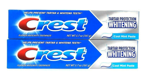 2 Count Crest 5.7 Oz Tartar Whitening Cool Mint Paste Toothpaste
