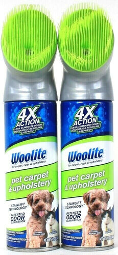 2 Ct Woolite 12 Oz 4X Action Stain Lift Odor Elimination Pet Carpet & Upholstery