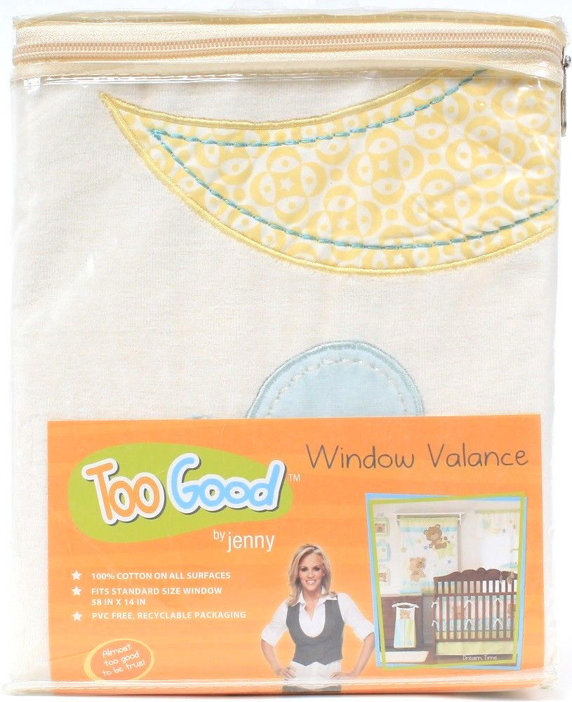 Too Good By Jenny McCarthy Cotton Standard Windo Valance 58 X 14 IN Dream Time