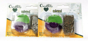 2 Count Our Pets Go Cat Go Butterfly Ball Catnip Filled Toy Bounces & Spins