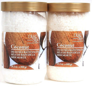 2 Dead Sea Collection 28.2 Oz Coconut Bath Salts With Aromatic Oils Softens Skin