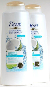 2 Dove Nourishing Rituals 20.4 Oz Coconut & Hydration Sweet Lime Scent Shampoo
