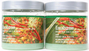 2 Dead Sea Collection Eucalyptus Salt Scrub With Dead Sea Salts & Aromatic Oil