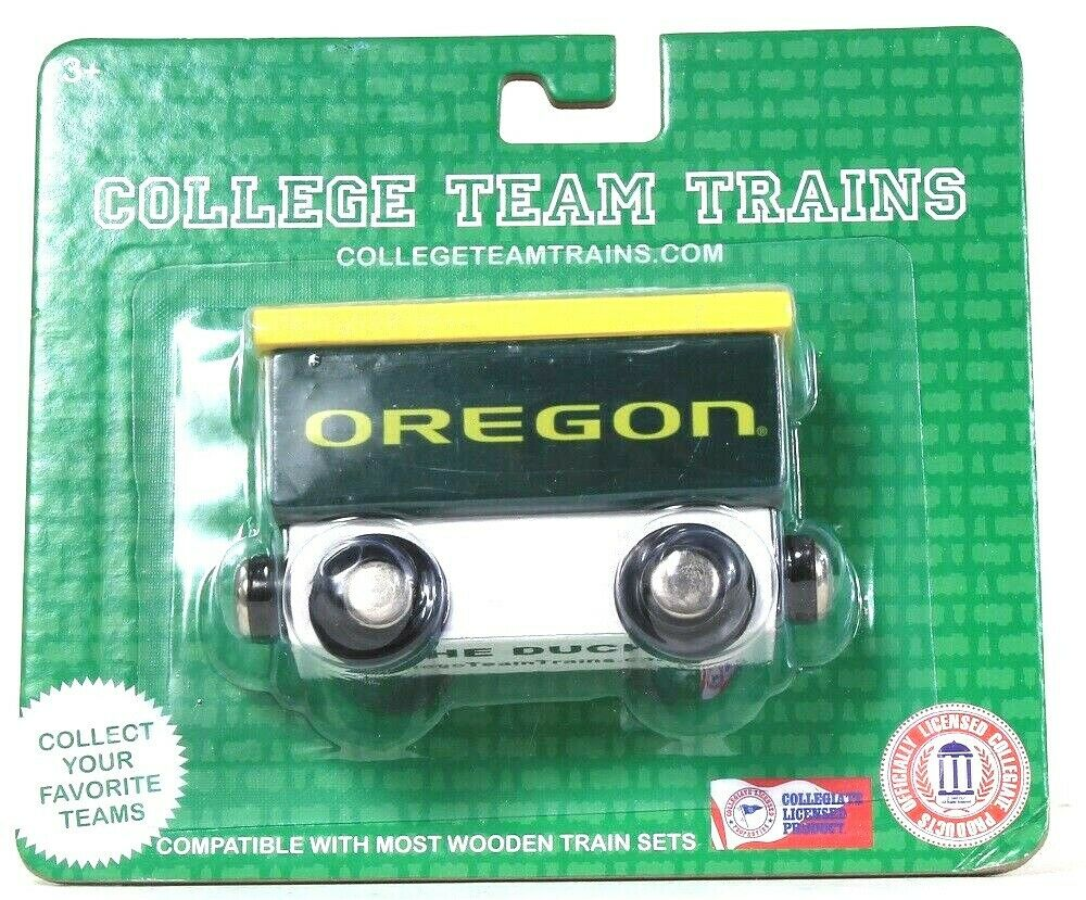 1 Officially Licensed College Team Trains Oregon Go Ducks Compatible Wood Trains