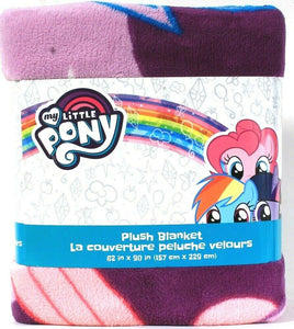 "1 Franco Manufacturing Co My Little Pony 62"" X 90"" 100% Polyester Plush Blanket"