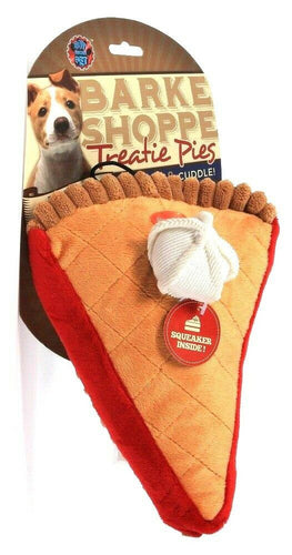 1 Count Bow Wow Pet Barke Shoppe Treatie Pies Squeak & Cuddle Dog Toy