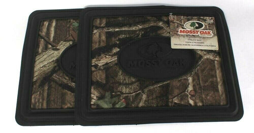 2 Ct Mossy Oak Brand Camo Utility Mats Rugged Fabric 3D Logo Protect Floors