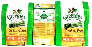 3 Greenies Dental Treats Grain Free Easy to Digest Petite for Dogs 15-25lbs 3oz