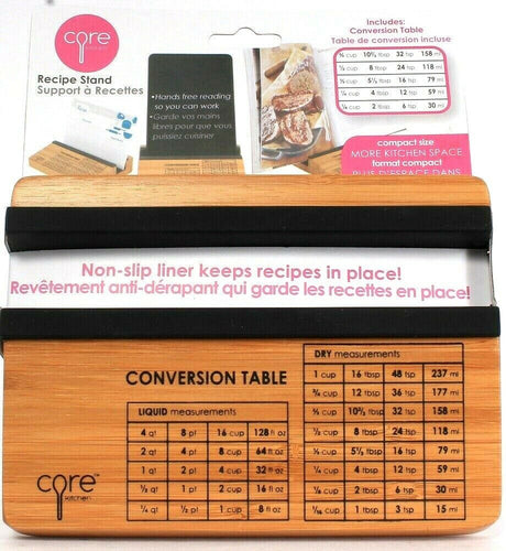 1 Count Core Compact Size Recipe Stand Non Slip Liner With Conversion Table