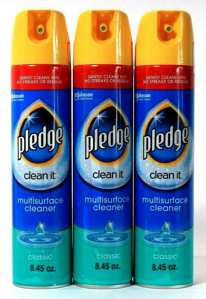 3 Count Pledge 8.45 Oz Clean It Classic Gentle No Streaks Multi Surface Cleaner