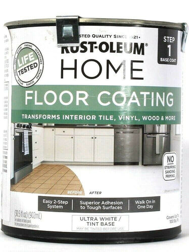 Rust-Oleum 32oz Home Floor Coating Step 1 Base Coat 358876 Ultra White Tint Base