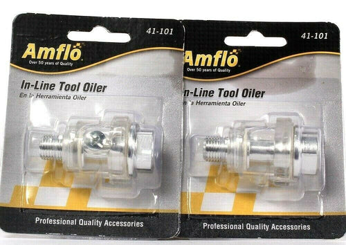 2 Count Amflo 41-101 In-Line Tool Oiler Professional Quality Accessories