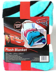 One Disney Pixar Cars Super Soft 62 Inch X 90 Inch 100% Polyester Plush Blanket