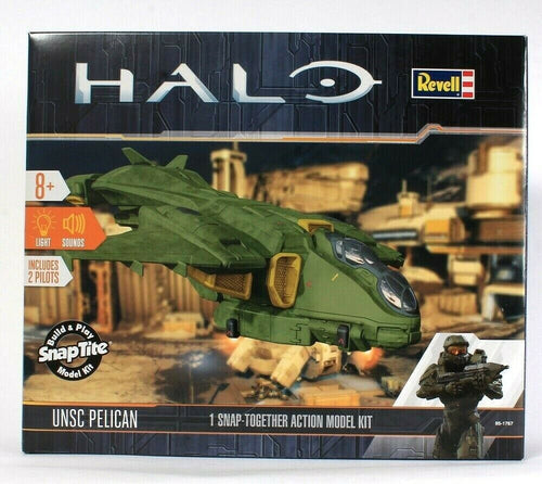 Revell Halo UNSC Pelican Build & Play SnapTite Model Kit Light & Sounds 2 Pilots