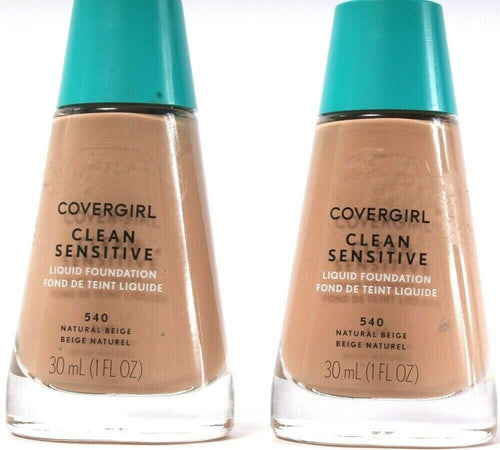 2 Ct Covergirl Clean Sensitive Liquid Foundation 540 Natural Beige 1 Fl Oz Wowie