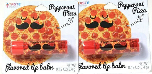 2 Ct Taste Beauty 0.12 Oz Pepperoni Pizza Flavored Lip Balm Smiles You Can Taste