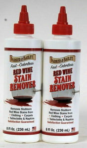 2 Bottles Parker & Bailey 8 Oz Fast Acting Odorless Red Wine Stain Remover