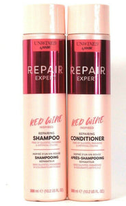 Unwined By Hask 10.2 Oz Repair Red Wine Inspired Shampoo & Conditioner Set