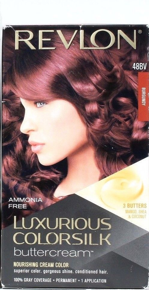 1 Revlon Luxurious Colorsilk Permanent Hair Color Buttercream 48BV Burgundy