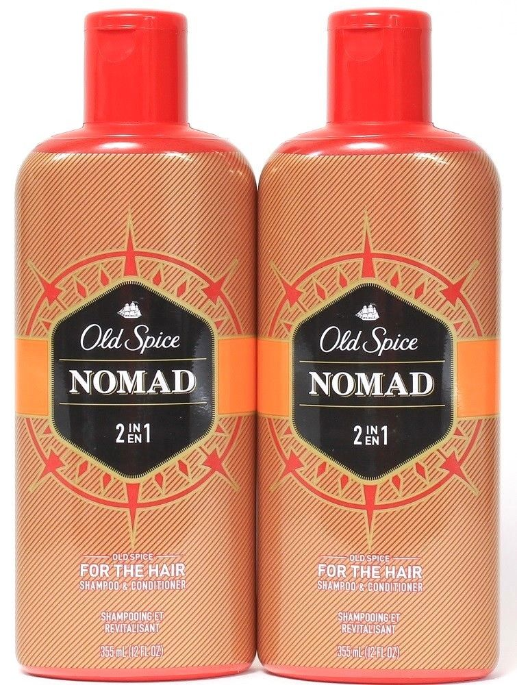 2 Old Spice Nomad 2in1 For The Hair Shampoo Conditioner Smooth Clean 12 oz