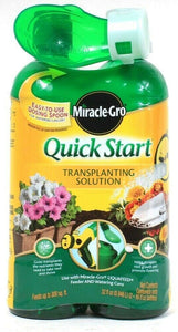 Miracle Gro 32 Oz Quick Start Transplanting Solution Easy Dosing Spoon Twin Pack