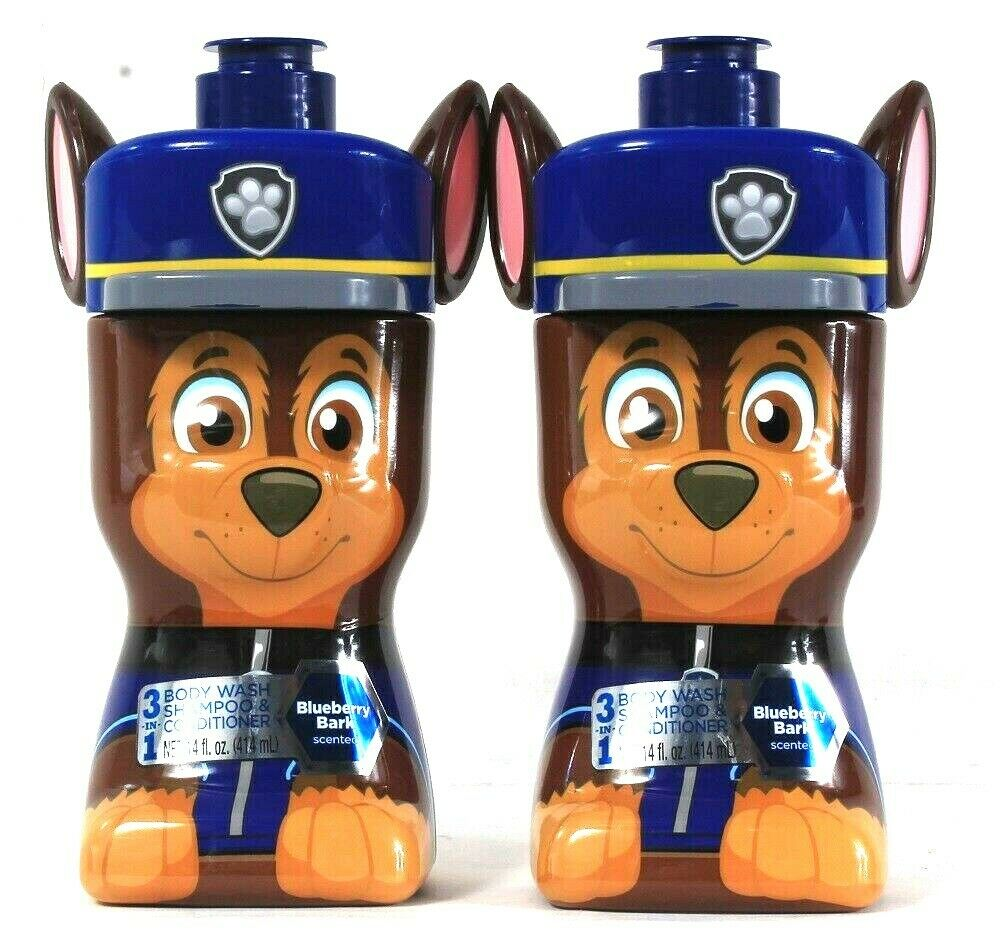 2 Bottles Centric Beauty 14 Oz Paw Patrol 3 In 1 Body Wash Shampoo Conditioner