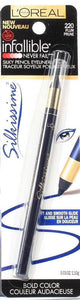 1 L'Oreal Infallible Silkissime Bold Color Silky Pencil Eyeliner 220 Plum
