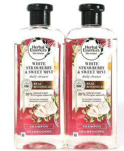 2 Bottles Herbal Essences 13.5 Oz White Strawberry Sweet Mint Daily Shampoo